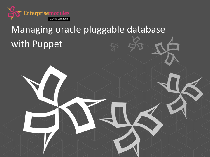 Manage Oracle containers with Puppet